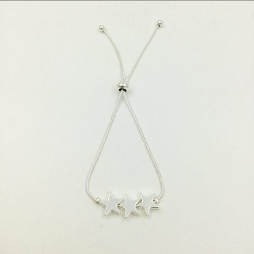 Three Stars Silver Friendship Bracelet