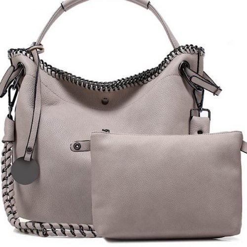 Pink Chain Detail Tote Bag