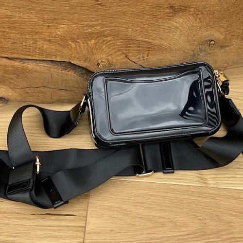 Black Peyton Bee Shoulder Bag