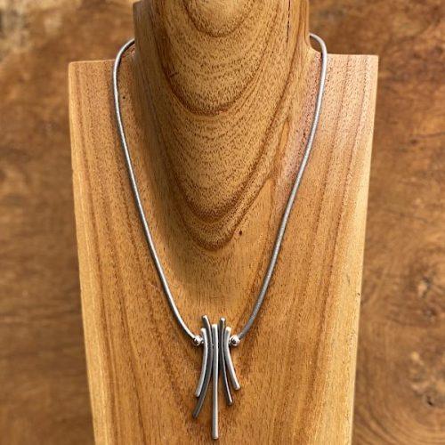 Simple Grey Unusual Short Necklace