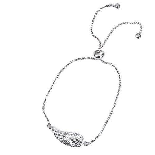 Zircon Stone Angel Wing Friendship Bracelet