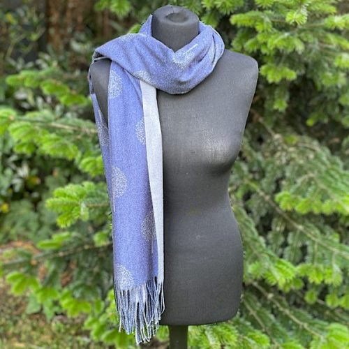 Blue And Grey Mulberry Scarf Or Pashmina