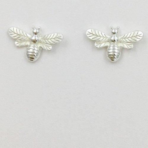 Silver Bee Stud Earrings