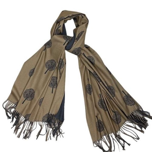 Camel And Grey Mulberry Scarf Or Pashmina