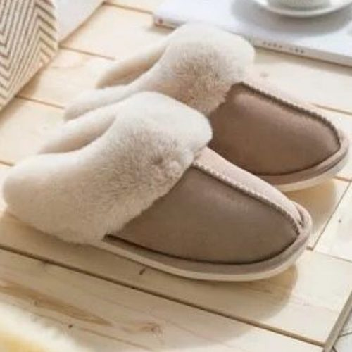 Camel Mule Sheepskin Slippers