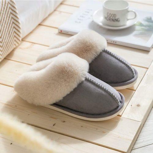 Grey Mule Sheepskin Slippers