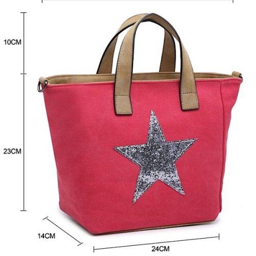 Raspberry Star Handbag