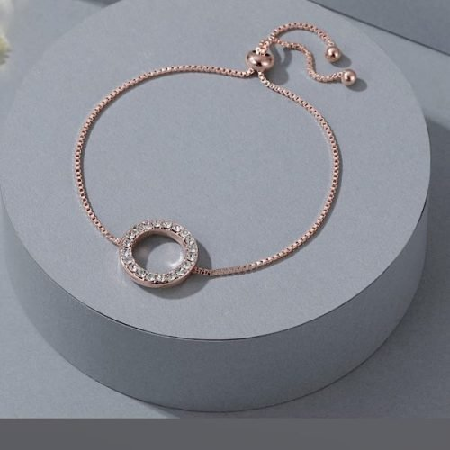 Rose Gold Cubic Zircon Friendship Bracelet