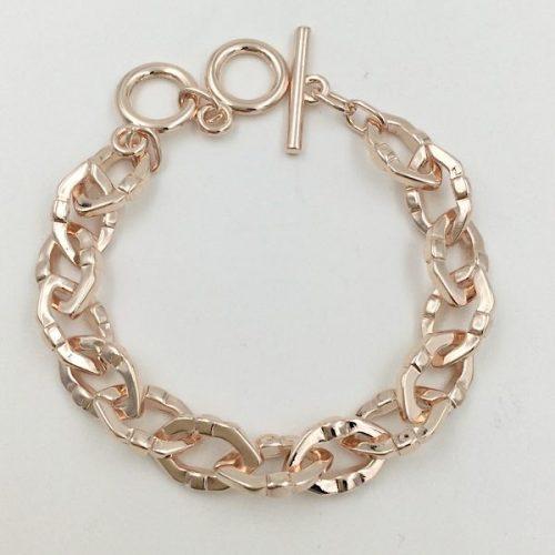 Rose Gold Oval Link Bracelet