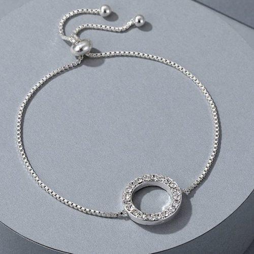 Silver Cubic Zircon Friendship Bracelet